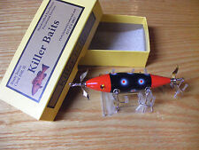 Killer Baits Rusty Jessee Heddon Little Sac Style Glasseye 150 in Red Sable