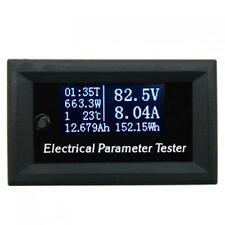 OLED Display Parameter Meter Volt Amp Power Energy Capacity Time Temp Tester