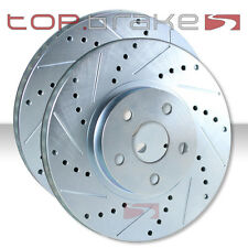 FRONT Performance Cross Drilled Slotted Brake Disc Rotors TB5399