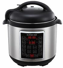 GoWISE USA® GW22623 Latest 4th-Generation Stainless Steel Pressure Cooker 8Qt