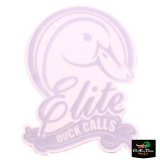 ELITE DUCK CALLS VINYL DIE-CUT DECAL STICKER BOAT TRUCK  GOOSE TRAILER WHITE