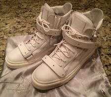 •Giuseppe Zanotti• Birel Bianco Matte White high top sneaker Shoes 43/US10 $995.
