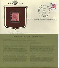 Historic Stamps of America VALLEY FORGE Commemorative Stamp