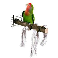 Wood Pet Parrot Raw Stand Toy Hamster stand bar Branch Perches for Bird Cage