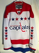 Reebok Premier NHL Jersey Washington Capitals Team White sz L