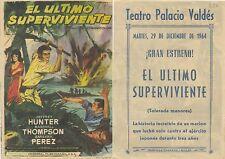 Programa PUBLICITARIO de CINE: El último superviviente.