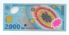 Romania- 2000 lei, Millinium's First Solar eclipse Commemorative Polymer GEM UNC