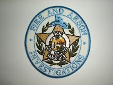 FLORIDA STATE FIRE MARSHALL FIRE AND ARSON INVESTIGATIONS PATCH