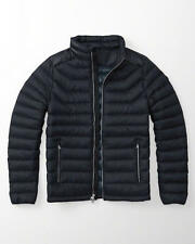 NWT 2016 Abercrombie & Fitch A & F Men Lightweight Down Puffer Jacket Navy L