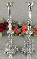 Kerzenleuchter Messing Kirchenleuchter Kerzenständer Kerzenhalter silber Neu