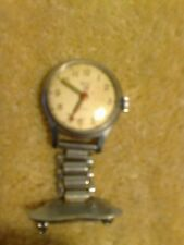 Vintage SMITHS NURSES FOB WATCH Mechanical Hand Winding - Working