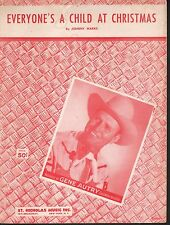 Everyone's a Child at Christmas 1956 Gene Autry Sheet Music