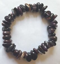 BEAUTIFUL SUGILITE (LUVULITE) CHIP BEAD HEALING CRYSTAL BRACELET
