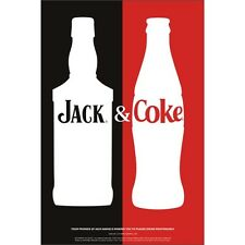 JACK DANIELS AND COKE WINDOW CLING  12 by 18