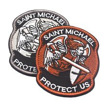 Saint Micheal Badger Military Tactical Army Morale Combat Multicam Patch SM
