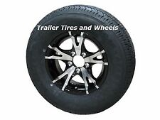 "T07BK 185/80R13 LRD 8 PR Radial Trailer Tire on 13"" 5 Lug Aluminum Trailer Wheel"