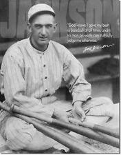 Replica Tin Metal Sign Shoeless Joe Jackson baseball player ball glove bat 1528