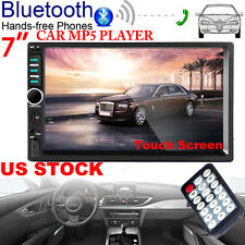 "7"" HD Touch Bluetooth In Dash Car Stereo Audio MP5 Player USB/TF/AUX FM Radio US"