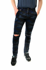 Eleven Paris Men's RULIO Casual Trousers Slim Fit Style 16S1PA03 Blue Size 31