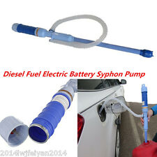 Car Diesel Fuel Water Electric Battery Syphon Pump Unit 7.5 litres/Min Transfer