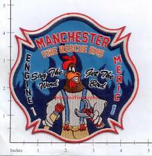 Connecticut - Manchester Engine 1 Medic 1 CT Fire Dept Patch EMS