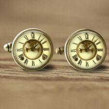 16mm Cuff Links Clock Cufflinks Mens Accessory Glass Cufflinks Picture jewelry