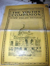 """VINTAGE THE YOUTH'S COMPANION """"NEW ENGLAND EDITION"""" 4/5/1900 EUC NICE COND. L@@K"""