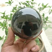 2016 HOT SELL 60MM OBSIDIAN POLISHED BLACK CRYSTAL SPHERE BALL +STAND
