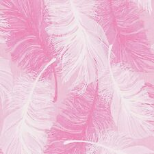 Powder Pink Feather Wallpaper White and Silver Glitter by Coloroll M0963