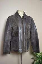 VTG WILSONS M. JULIAN BROWN DISTRESSED LEATHER INSULATED JACKET * LARGE