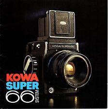 Prospectus KOWA SUPER 66 SYSTEM + liste de prix