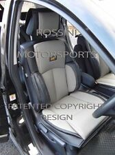 TO FIT A MERCEDES C CLASS CAR, SEAT COVERS, YS 01 ROSSINI GREY/BLACK, 2 FRONTS