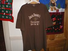 JACK DANIELS BROWN TENNESSEE HONEY T-SHIRT  BEE LOGO ON REAR SIZED LARGE