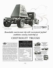 1936 BIG Vintage Chevrolet Chevy Truck 10000 Pound Weight Load Art Print Ad