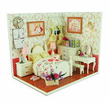 New Dollhouse Miniature DIY Kit Dolls House Room Handicraft Gift Warm Story