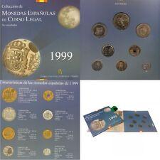 Cartera 1999 F.D.C Todos Las Piezas 1 Pts Hasta 500 Pesetas Spain España Leer!!