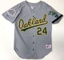 RICKEY HENDERSON 1989 WORLD SERIES OAKLAND A'S AUTHENTIC MLB RAWLINGS JERSEY 40