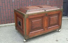AWESOME Hand Made Antique 1800s Fitted Interior Carpenters Tool Chest trunk