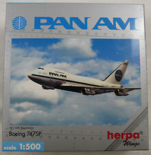 Boeing 747sp pan am n530pa Herpa 512244 1:500 OVP