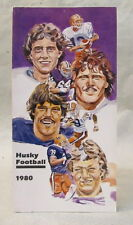 1980 UNIVERSITY WASHINGTON HUSKIES football Media Press Guide