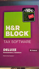 H&R Block Tax Software Deluxe  2015 Federal