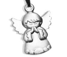 925 ECHT SILBER *** Engel betend Schutzengel Anhänger 19 mm, matt