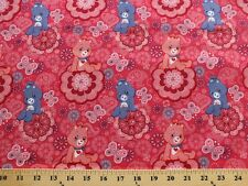 Care Bears Purple Pink Paisley Flowers Cotton Fabric Print by the Yard D782.11