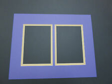 Picture Mat  LSU Purple Gold  11x14 for two 5x6 photos picture matting