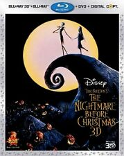 Nightmare Before Christmas DVD Blu-ray 3D Digital Copy with Lenticular Slipcover