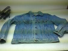 VINTAGE DISTRESSED LEVI'S MADE IN USA BLUE JEAN 100% COTTON JACKET SZ 46 R