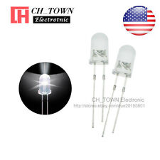 100pcs 5mm Transparent led water clear White Light Diodes Round top Ultra Bright