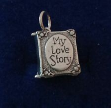 Sterling Silver Movable 15x12mm My Love Story Book Charm