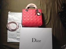 CHRISTIAN DIOR LADY DIOR Handbag Tri-Color Lamb Leather Medium