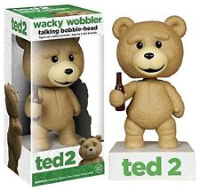 TED 2 Talking Wacky Wobbler Bobble Head Bobblehead Movie Bear Toy Doll Beer NEW